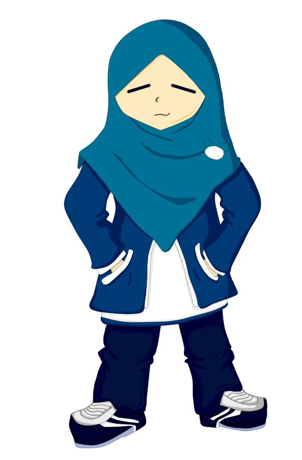 Desain karakter jilbaber yang santaiiiii