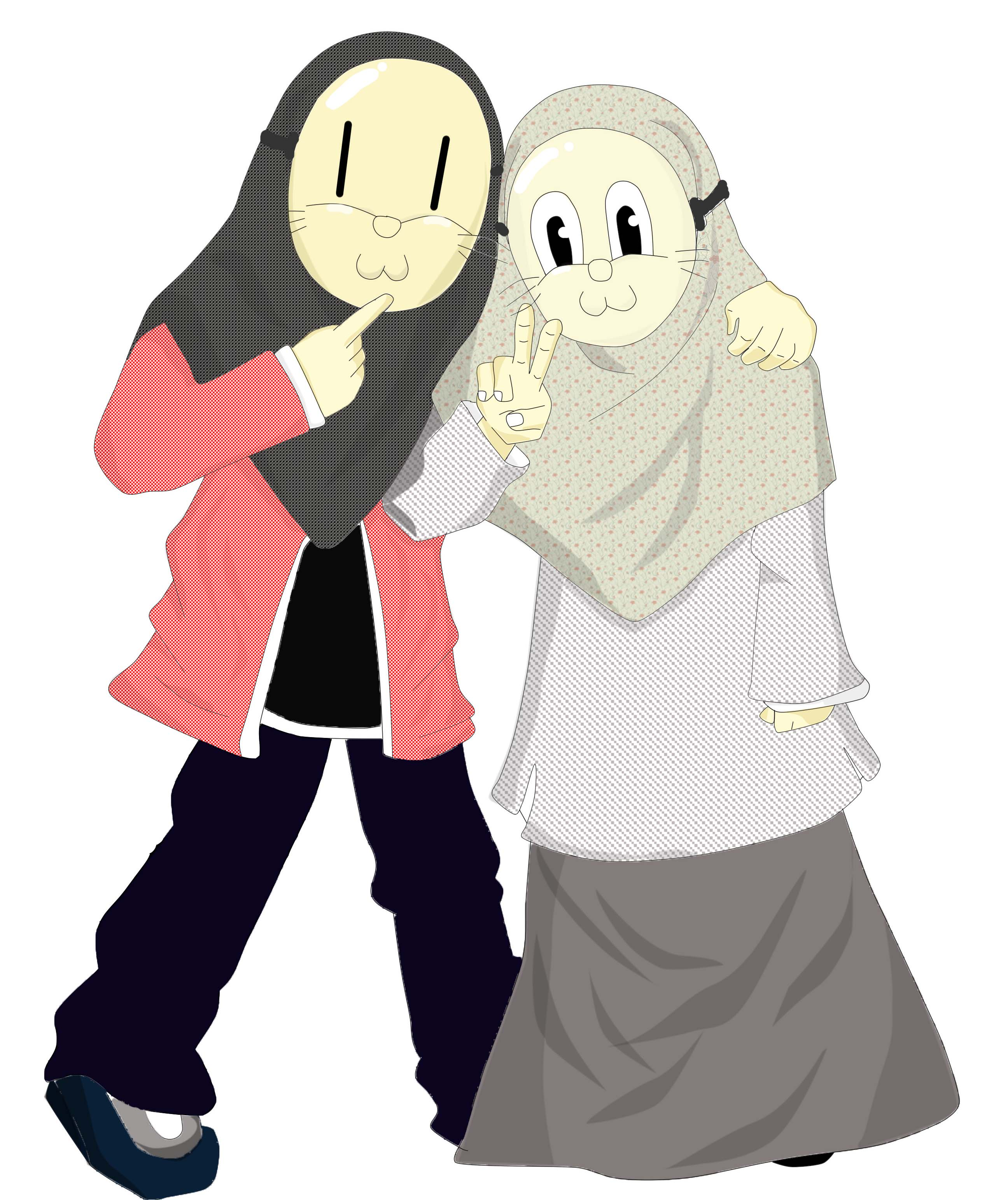 Gambar Wallpaper Kartun Hijab  Gudang Wallpaper